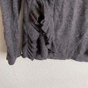 Anthropologie Sweaters - Anthropologie Postmark ruffle crew neck sweater